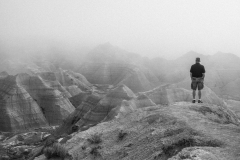 contemplating nature, Badlands National Park