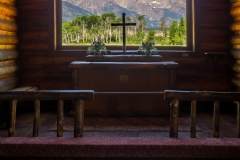 interior of Church of the Transfiguration, near Grand Teton National Park - Moose, WY
