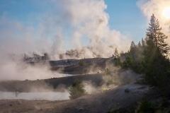 fumaroles in Norris Geyser basin, Yellowstone